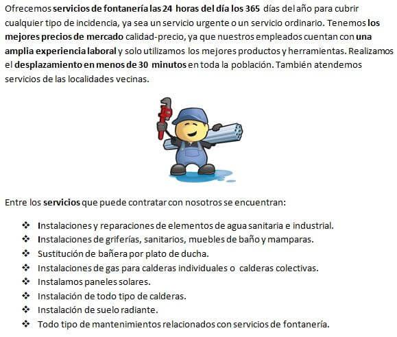 Fontaneros Huerta de Valdecarábanos, servicios de reparación de goteras
